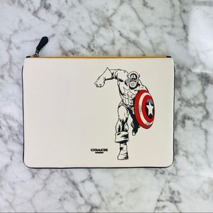 Coach X Marvel Captain America Large Pouch